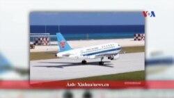 Trung Quốc lại đáp máy bay trên đảo Đá Chữ Thập