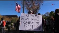 ABŞ-ın böyük şəhərlərində Trampa qarşı etirazlar keçirilir