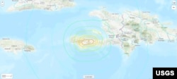 Haiti earthquake location map, Aug. 14, 2021 (Credit: USGS)