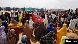 Le camp de Bakassi à Borno au Nigeria le 18 juillet 2018.