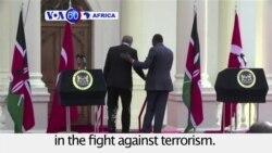VOA60 Africa - Turkish president Erdogan visits Kenya, Somalia
