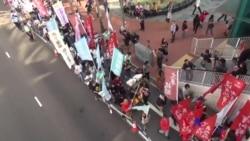 2017-12-03 美國之音視頻新聞: 數以千計港人遊行反對威權聲援政治犯 (粵語)