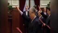 台灣新內閣星期一宣誓就職