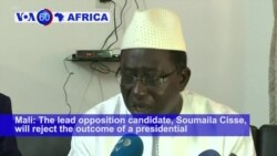 VOA60 Africa - Mali: The lead opposition candidate, Soumaila Cisse, will reject the outcome of a presidential election