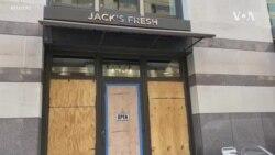 華盛頓道路選舉日封鎖 商家加裝木板