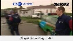 Cảnh sát sử dụng hơi cay để giải tán di dân (VOA60)