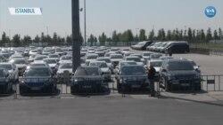 Yenikapı Meydanı'ndaki Araç Sayısı Bini Aştı