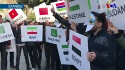 İçeride Kudüs Zirvesi Dışarıda Protesto