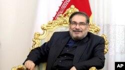 علی شمخانی، دبیر شورای عالی امنیت ملی ایران. آرشیو
