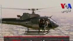 پرش دوچرخه سوار اسکاتلندی از هلیکوپتر روی ساختمانی در دبی