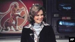 فیلیس جرج، از نخستین گویندگان زن اخبار ورزشی در شبکه سیبیاس