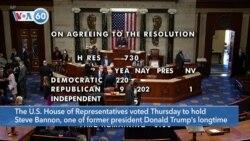 VOA60 America - US House Votes to Hold Trump Adviser Bannon in Contempt