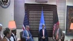 阿富汗總統競選對手簽署團結協議