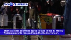VOA60 Africa - 7 European Nations End Latest Mediterranean Standoff Over Migrants