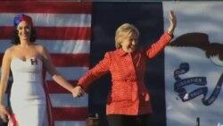 تلاش انتخاباتی هیلاری کلینتون در ایالت آیوا