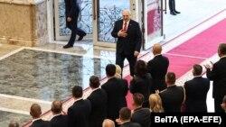 Александр Лукашенко во Дворце независимостию. Минск, 23 сентября 2020.