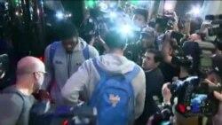 三名被中國拘留美國籃球運動員返國