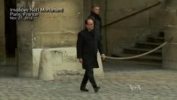 At Paris Memorial, Hollande Vows To Crush 'Army Of Fanatics'