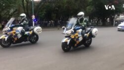 Mnangagwa Arriving in Parliament ....