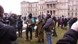 美國多地加強安保措施 較小規模抗議仍有發生