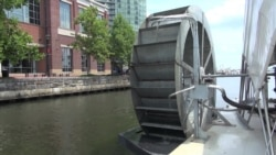 Water Wheel Picks Up Trash in Baltimore's Waterways