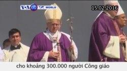 Đức Giáo hoàng Phanxicô cử hành Thánh Lễ tại Mexico (VOA60)