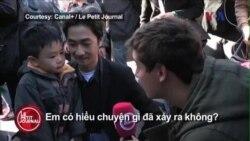 Video cha con gốc Việt trò chuyện về vụ khủng bố Paris
