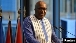 Le président du Burkina Faso, Roch Marc Christian Kaboré, au Sommet du G20 sur l'investissement à Berlin en Allemagne, le 19 novembre 2019.