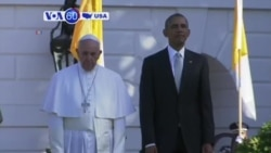 VOA60 America- President Barack Obama meets with Pope Francis