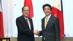 2014-06-24 美國之音視頻新聞: 安倍晉三會晤阿基諾商討防務合作