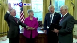 VOA60 America- Sessions Sworn In as US Attorney General at White House