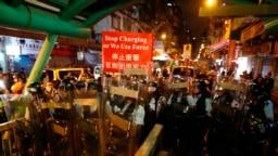 """El presidente Donald Trump ha dicho que espera quePekín actúe con """"humanidad"""" respecto a Hong Kong por el bien de las negociaciones comerciales entre las dos potencias."""