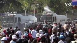 緬甸警方鎮壓抗議人士