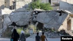 Идлиб подвергается бомбардировкам, начиная с весны этого года