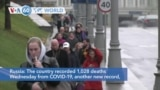 VOA60 Addunyaa - Russia recorded 1,028 deaths Wednesday from COVID-19