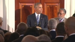 Obama Speaks to Racial Tensions at Celebration of African-American History Museum
