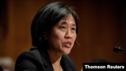 美国贸易代表戴琪(Katherine Tai)资料照片
