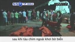 Hàng trăm người di cư e đã chết ngoài khơi bờ biển gần Zuwara (VOA60)