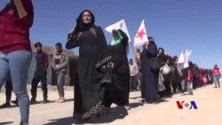 خۆپێشاندان بۆ پشتگیری کردنی عەفرین لە هەمو شارو شارۆچکەکانی باکوری سوریا بەڕیوەدەچێت