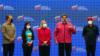 De izquierda a derecha: El ministro de petróleo Tarek El-Aissami, la vicepresidenta Delcy Rodríguez, la ahora diputada Cilia Flores, el presidente en disputa Nicolás Maduro y el jefe de campaña Jorge Rodríguez. [Foto: Reuters]