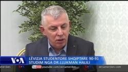 Levizja studentore shqiptare - Interviste me Dr. Llukman Halili