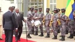 Le président gabonais Bongo à une cérémonie depuis son AVC