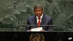 FILE - Angolan President Joao Lourenco speaks at the 74th session of the United Nations General Assembly at the United Nations headquarters in New York City, Sept. 24, 2019.