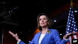 ေအာက္လႊတ္ေတာ္ဥကၠ႒ Nancy Pelosi. (ဇူလုိင္ ၂၆၊ ၂၀၁၉)
