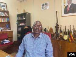 Nicholas Moyo, executive director of Zimbabwe's National Arts Council, is seen in Harare, January 2021. (Columbus Mavhunga/VOA)