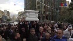 Reina'daki Saldırıda Hayatını Kaybeden Lübnanlılar İçin Cenaze Törenleri Düzenlendi