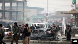 Kabil'de düzenlenen saldırıda en az 9 kişi hayatını kaybetti.