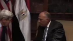 دیدار جان کری با عبدالفتاح السیسی و نبیل العربی در قاهره