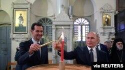 Suriye Lideri Beşar Esat, Moskova'da Rusya Lideri Vladimir Putin'le görüştü.
