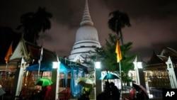 Chùa Wat Phra Si Mahathat ở Bangkok, Thái Lan.